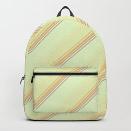 Spring Green Inclined Stripes Backpack