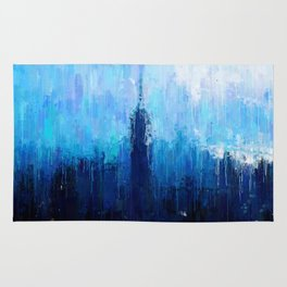 Empire State Building - New York City - Cityscape Wall Art, Poster, Impressionism Paintings, Prints Rug