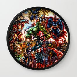 Super hero all Wall Clock