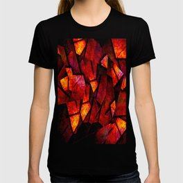 Fragments Of Fire - Abstract, geometric, fragmented pattern T-shirt