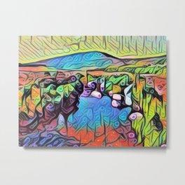 Abstract Irish Landscape Metal Print