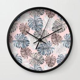 Palm Pattern Wall Clock
