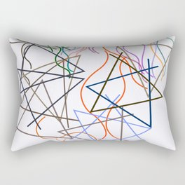 Sophie Taeuber-Arp - Line geometricaland wavy - Digital Remastered Edition Rectangular Pillow