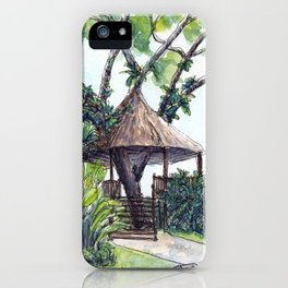 Tropical tree house iPhone Case