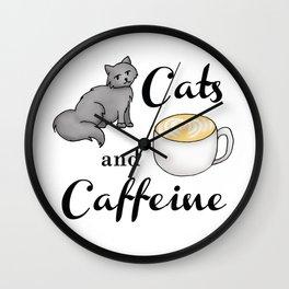 Cats and Caffeine Wall Clock