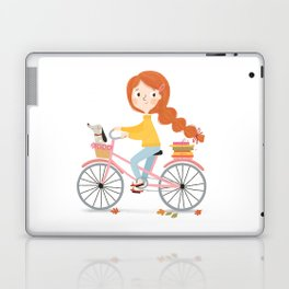 Bicycle Reading with Dachshund Laptop & iPad Skin