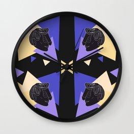 Dickface Pattern 2 Wall Clock