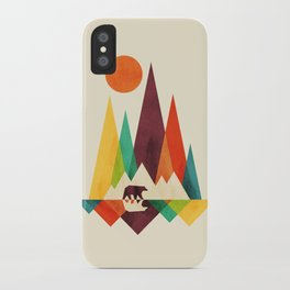 Bear In Whimsical Wild iPhone Case