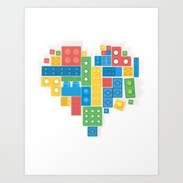 Lovely Blocks Art Print