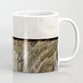 Cream Cement and Gnarled Wood Patterns Coffee Mug
