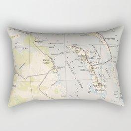 Vintage Map of Roanoke Island & Outer Banks NC Rectangular Pillow