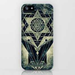 Sacred Geometry for your daily life- SRI YANTRA iPhone Case