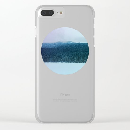 Oregon Winter Clear iPhone Case