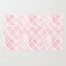Rose quartz marble tile pattern Rug