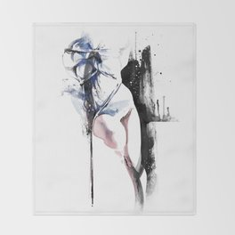 Shibari - Japanese BDSM Art Painting #4 Throw Blanket
