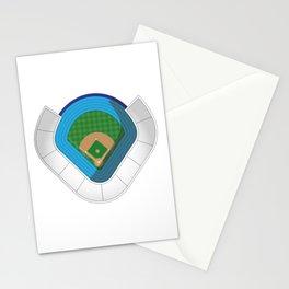 Baseball Stadium Stationery Cards