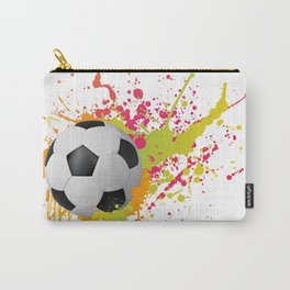 Football design with colorful splashes Carry-All Pouch