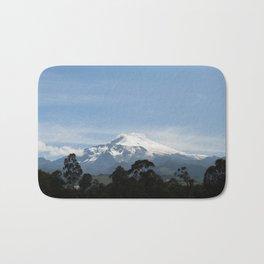 Snowy volcano Bath Mat