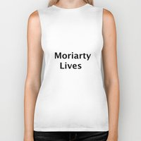 moriarty Biker Tanks featuring Moriarty Lives by TheseRmyDesigns