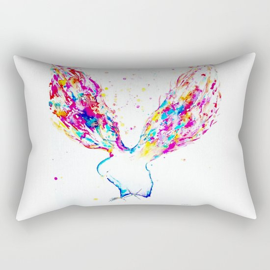 Rainbow Wings Rectangular Pillow