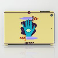 justice iPad Cases featuring JUSTICE by badOdds