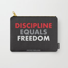"""""""Discipline Equals Freedom"""" Jocko Willink Carry-All Pouch"""
