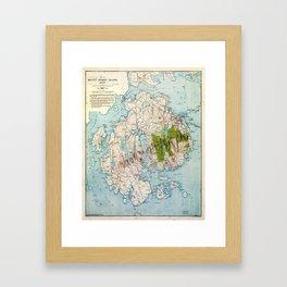 Map of Mount Desert Island, Maine (1917) Framed Art Print