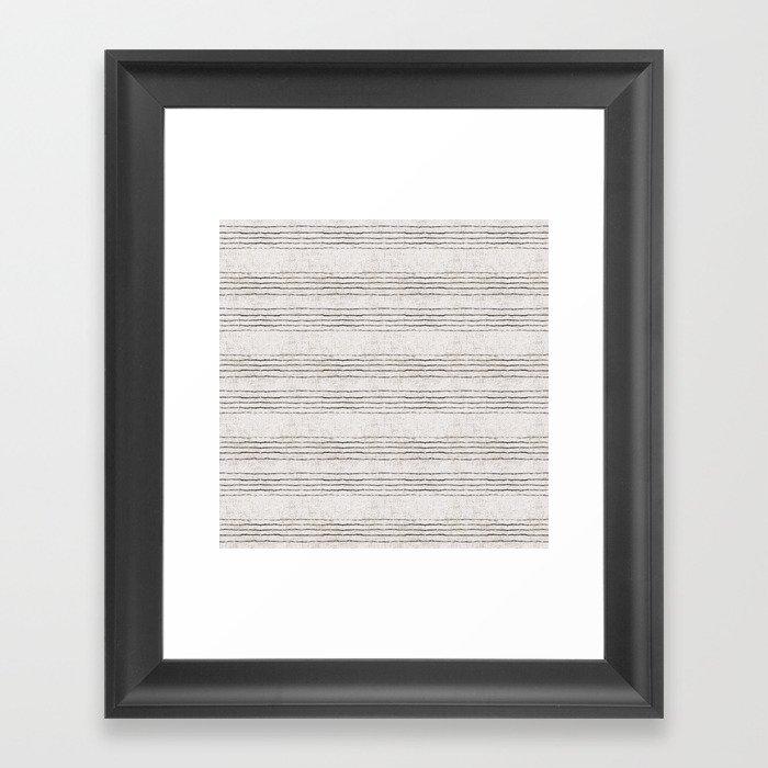 LINEN STRIPE RUSTIC Gerahmter Kunstdruck