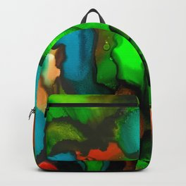 Stained glass garden of green Backpack