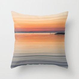 Ripples sea and sky Throw Pillow