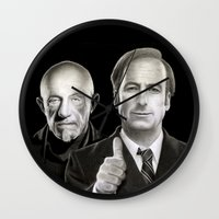 better call saul Wall Clocks featuring Better call Saul by Giampaolo Casarini