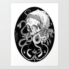 Witch Skull Art Print