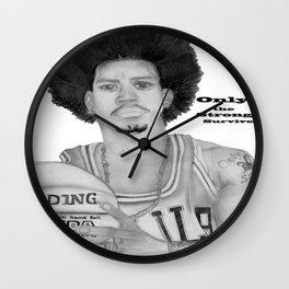 Allen Iverson Rookie Year Portrait Wall Clock