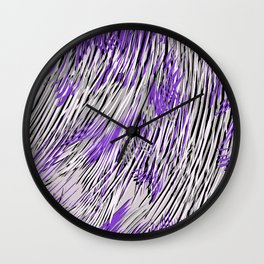feathered lines Wall Clock