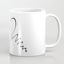 Two swans hand drawn minimalist print Coffee Mug