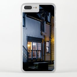 A Warming Hearth Clear iPhone Case