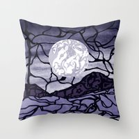 cracked Throw Pillows featuring Cracked by Mel Moongazer