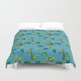 Happy Dinosaurs Duvet Cover