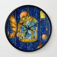 lanterns Wall Clocks featuring Lanterns by Anca Chelaru