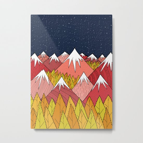 The mountains in the forest Metal Print