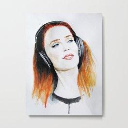 Simone Simons. Metal Print