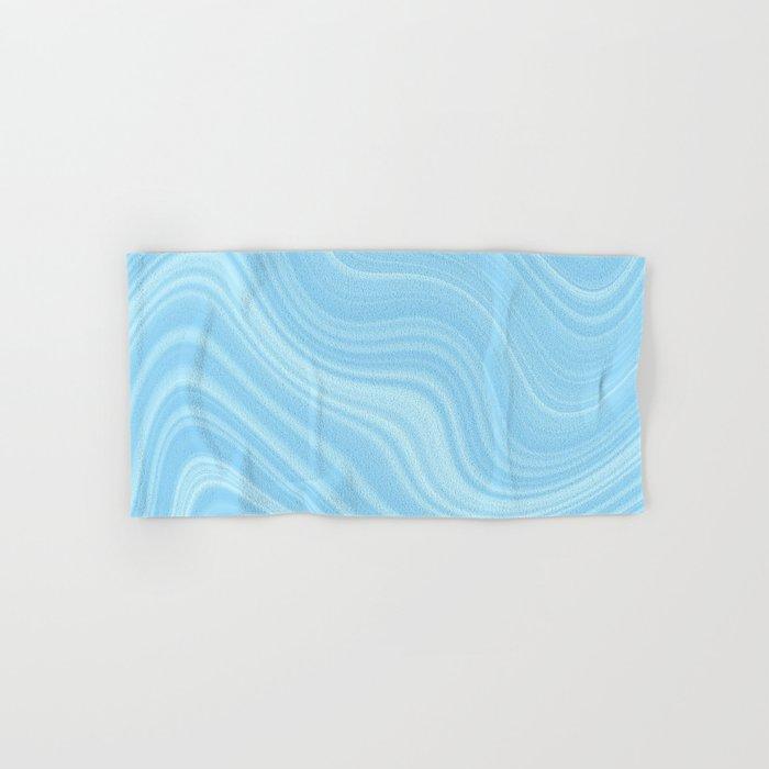 Blue wave abstract. Hand & Bath Towel