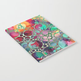 Dots on Painted Background 6 Notebook
