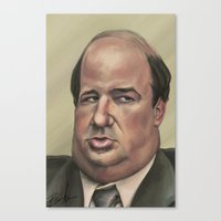 kevin russ Canvas Prints featuring Kevin by Ben Anderson