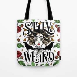 Rose and The Ravens | Stay Weird Tote Bag