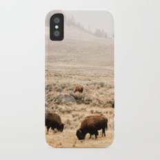 A Snow Storm Blowing In iPhone X Slim Case
