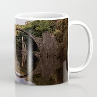 geology Mugs featuring Mystical stone arch by UtArt