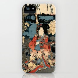 Garden of the Prosperous Blooms Triptych 1 iPhone Case