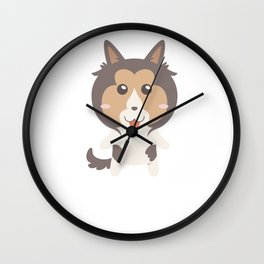 I Just Freaking Love Shelties Wall Clock