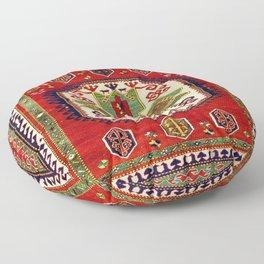 Lori Pambak Kazak Antique Carpet Print Floor Pillow